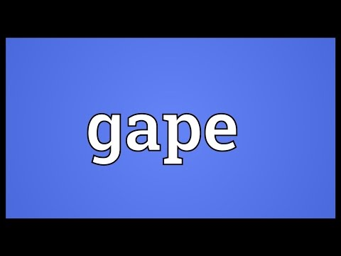 Gape Meaning
