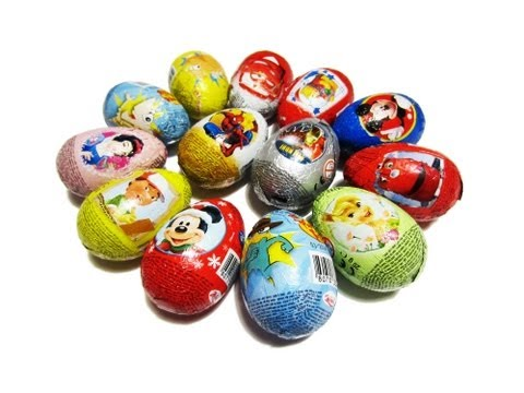 14 Kinder Surprise Zaini Eggs Disney Pixar Cars 2 Princess Iron Man Toy Story Spiderman Chuggington