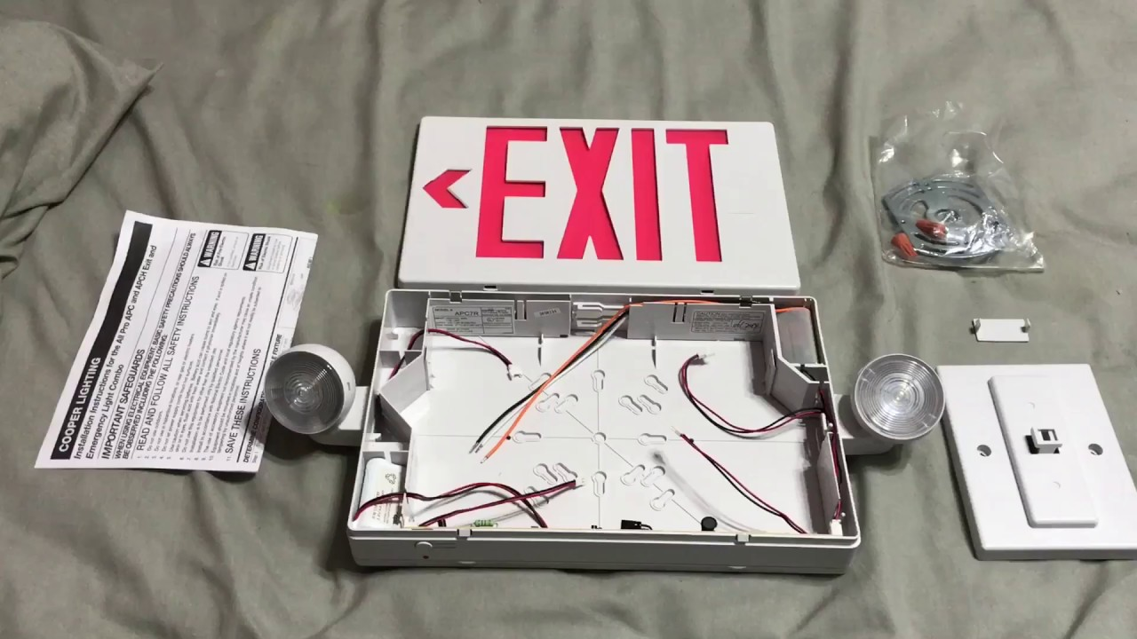 exit sign installation  [ 1280 x 720 Pixel ]