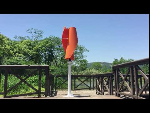 Helix wind turbine display, (without load) orange color