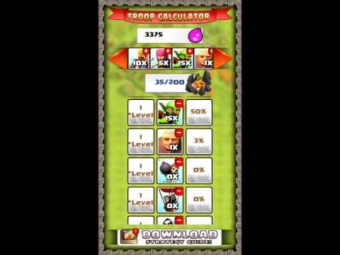 Clash Of Clans Troop Calculator