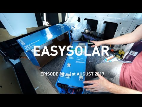 Victron EasySolar Unboxing & Mounting: Eat Sleep Van 12