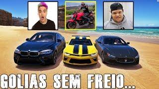 GOLIAS SEM FREIO CAMARO DO RENATO GARCIA VS BMW X6 DO FELIPE NETO VS MASERATI DO EDUKOF - FH3 GOPRO