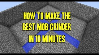How To Make The Best Mob Grinder In 10 Minutes - Tutorial