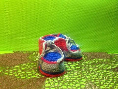 пинетки ботиночки крючком мастер класс