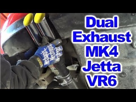 Installing Custom Exhaust System on MK4 Jetta