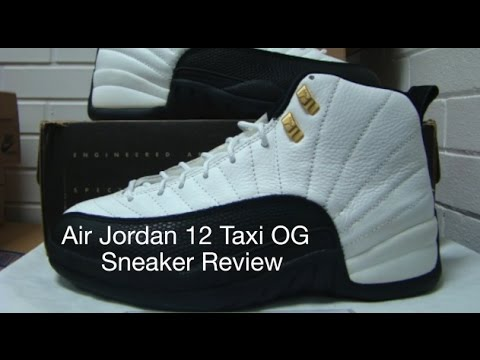 brand new d7609 34dea Air Jordan 12 'Taxi' OG 1996 Sneaker Review