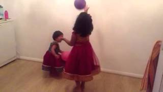 Lasya Gugu - Disha, Lasya fun with balloon Thumbnail