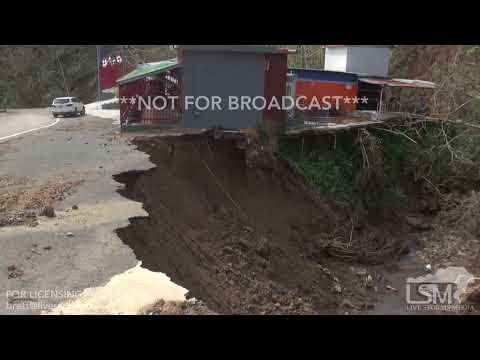 9-25-2017 Naranjito, Puerto Rico Hurricane Maria extreme damage, mudslides