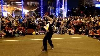 愛河燈會街頭表演 花式籃球 dd