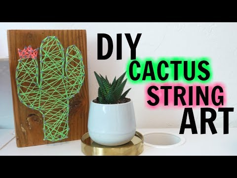 DIY: Cactus String Art | Easy Dorm Decor Idea