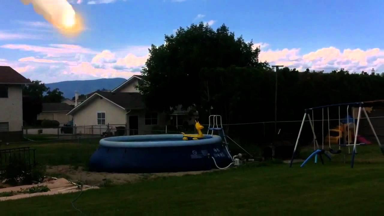 Intex Pool Setup On Sloped Ground Youtube