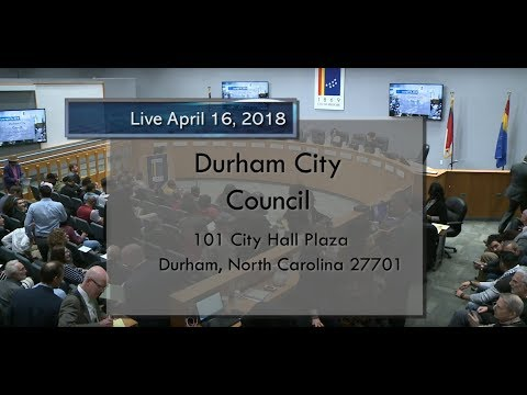 Durham City Council Apr 16, 2018