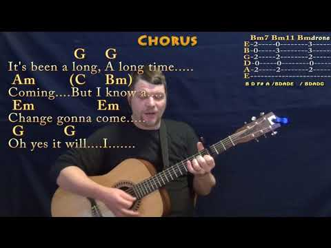 A Change Is Gonna Come (Sam Cooke) Guitar Cover Lesson with Chords/Lyrics - Capo 3rd