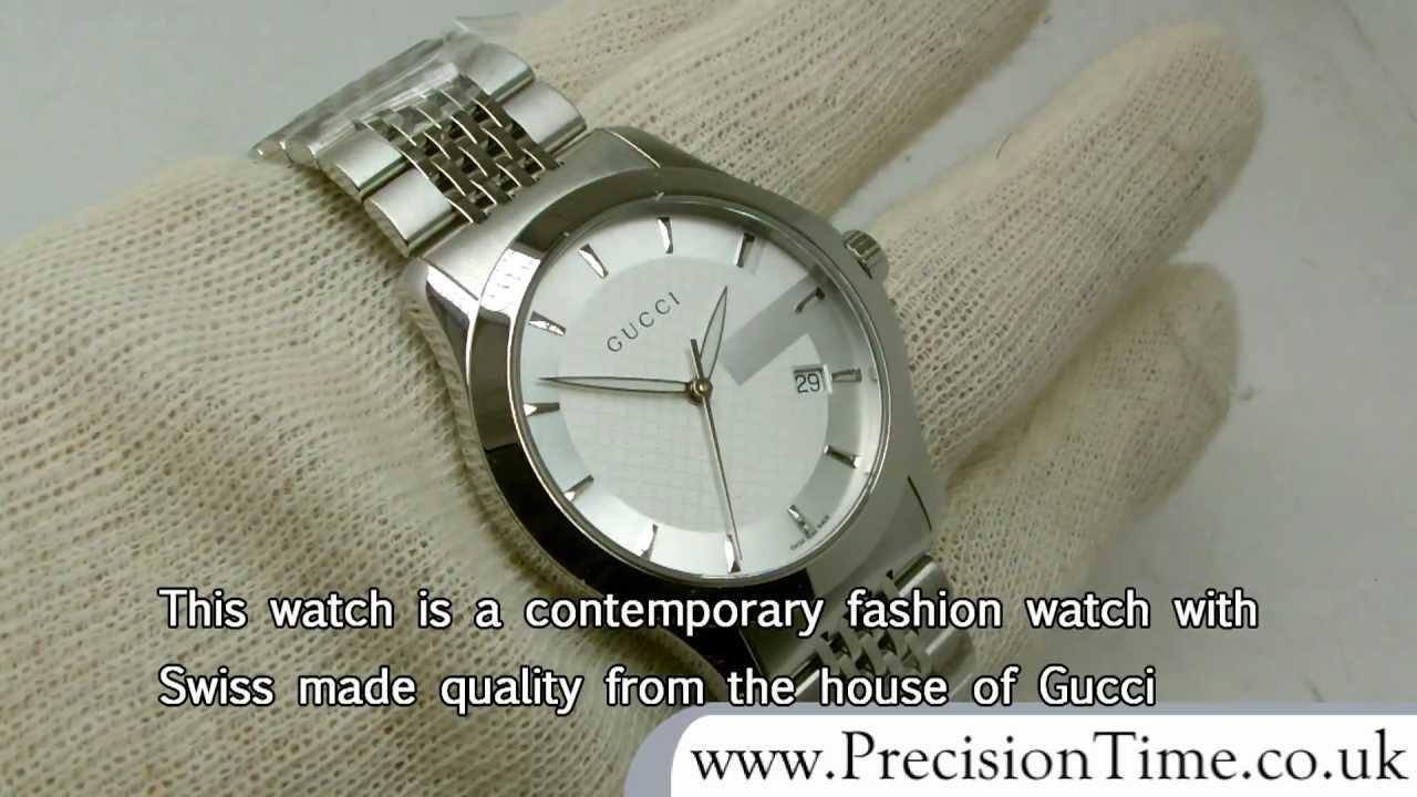 f6c1ec64b24 Gucci YA126401 G-Timeless Gents Watch - YouTube