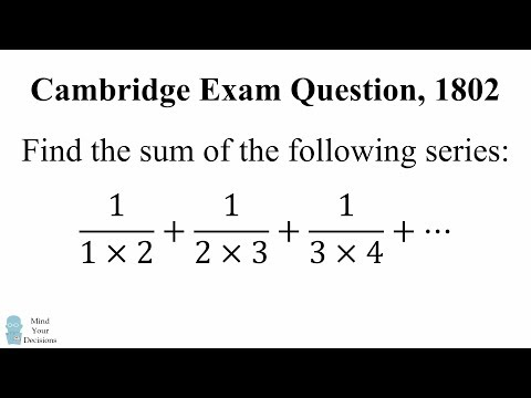 Can You Solve This Cambridge Exam Question? Math Problem, 1802