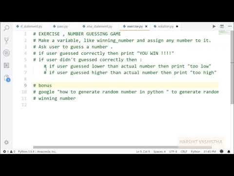 Nested If else,  Exercise 1 solution   Python tutorial 43 thumbnail