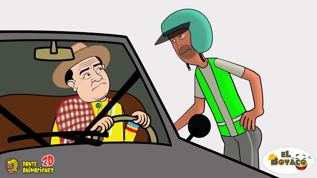 El Boyaco y el policía de tránsito