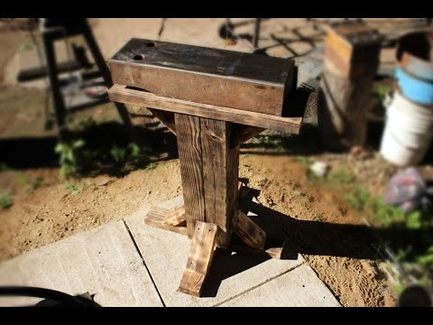 Making a 150 LB blacksmith anvil with stand! Big!
