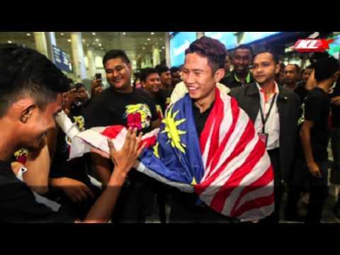 Kepulangan Khairul Idham Pawi - KLIA
