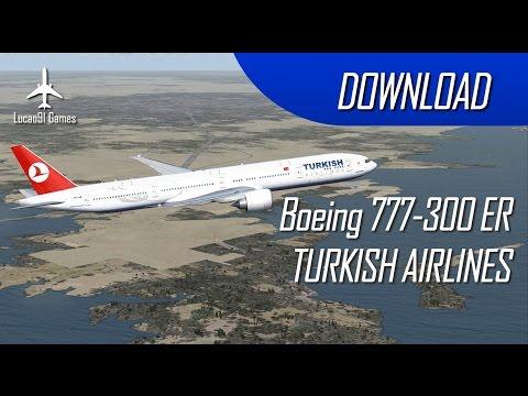 DOWNLOAD FSX BOEING 777-300 ER TURKISH - By Christophermpbr