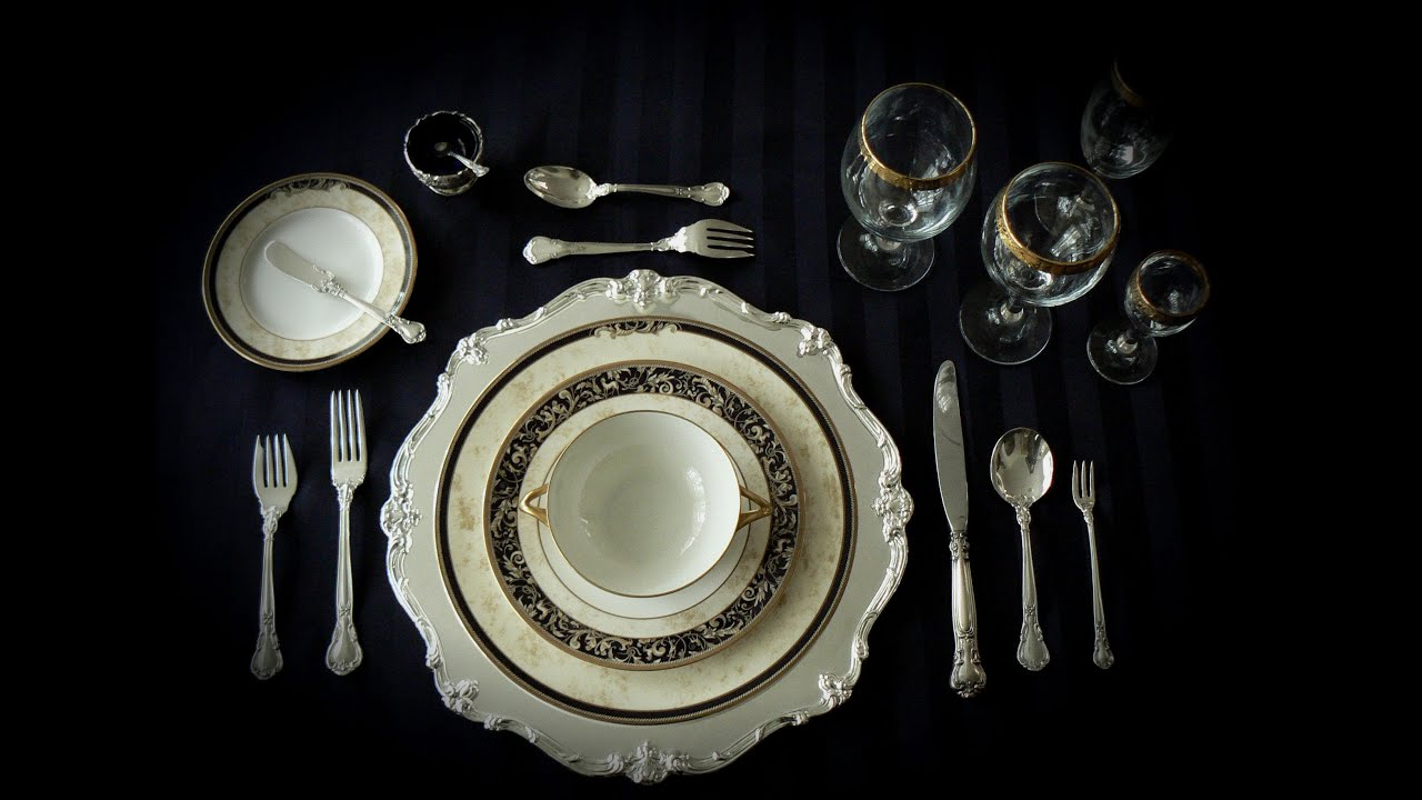 Table Settings Asmr Formal Table Settings Whispers Tapping And Mouth Sounds