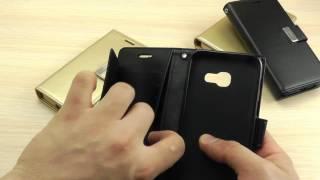 """ОБЗОР: Шикарный Кожаный Чехол-Книжка для Samsung Galaxy A5 SM-A520 2017 года Серия """"Rich Diary"""""""
