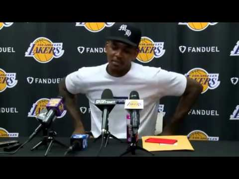 Los Angeles Lakers (NBA). Nick Young Interview with the media. 2017 04 13