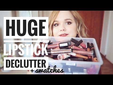 HUGE LIPSTICK DECLUTTER | PROJECT SAY YES #4
