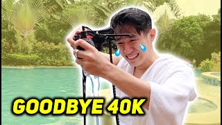 Nahulog camera ko sa pool!! BYE 40,000 PHP :((