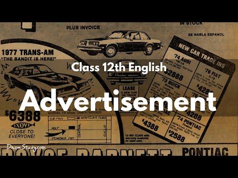 Class 12 english advertisement youtube class 12 english advertisement stopboris Image collections