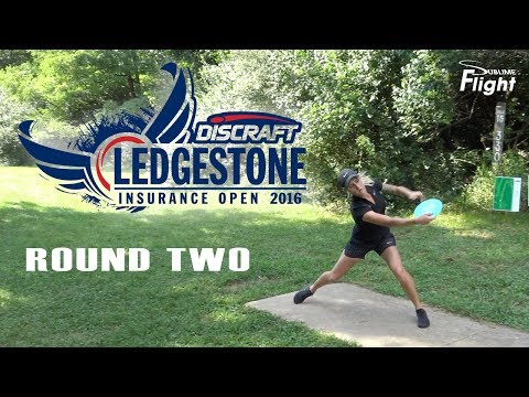 Women's Lead Card Round 2 Ledgestone Open 2016 Disc Golf Tournament