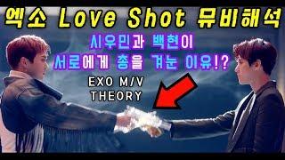 백현과 시우민이 서로에게 총을 겨눈 이유!? EXO 러브샷 궁예 (세계관 정리) MV Theory l 수다쟁이쭌