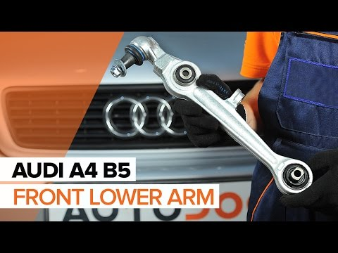 How to replace front lower arm on AUDI A4 B5 TUTORIAL | AUTODOC