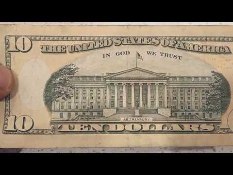 Hidden Message On 10 Dollar Bill