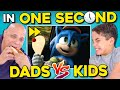 Dads DESTROY Their Kids In One Second | Sonic Speed Challenge