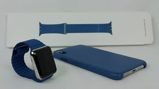 Скачать Apple Watch 44mm Cape Cod Blue Leather Loop Unboxing