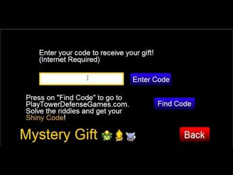 Pokemon Tower Defense Shiny Charmander Code For Mystery