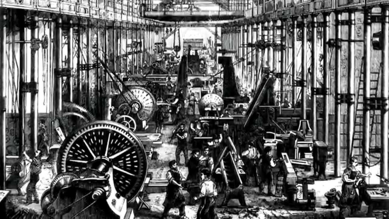 pradžia darbas pramonės revoliucija