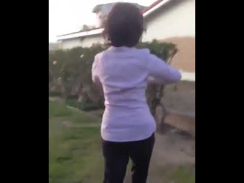 Insane Woman Shoved, Flips Out [full video]