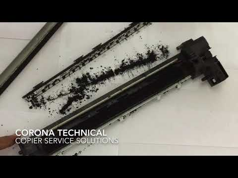 KYOCERA TASKalfa 1800, 2200, 1801, 2201-series Drum blade and charge roller replacement