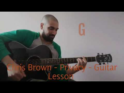 CHRIS BROWN - PRIVACY (GUITAR LESSON) Acoustic Chords/Tutorial/Tabs STRAW OWL MUSIC