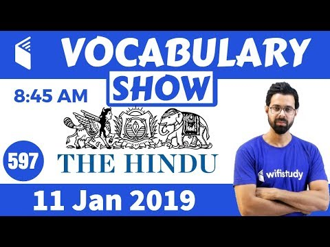 8:45 AM -  Daily The Hindu Vocabulary with Tricks (11 Jan, 2019) | Day #597