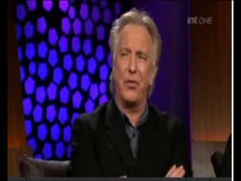 Alan Rickman as Severus Snape (Alan Rickman, Fiona Shaw, Lindsay Duncan in The Late Late Show)