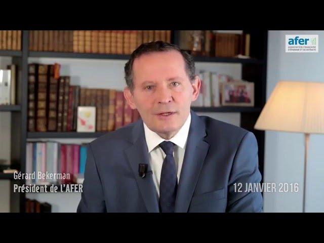 Gérard Bekerman annonce les résultats du contrat Afer - 12 janvier 2016 -