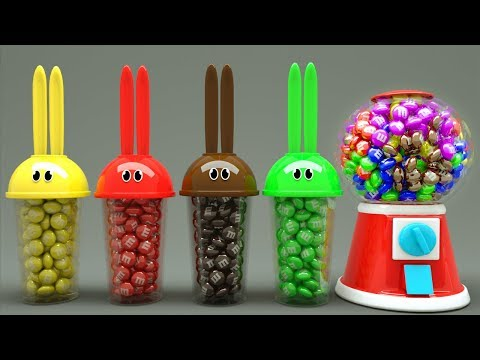 Learn Colors with Bunny Mold and Gumball Machine Animals Finger Family Song for Kids
