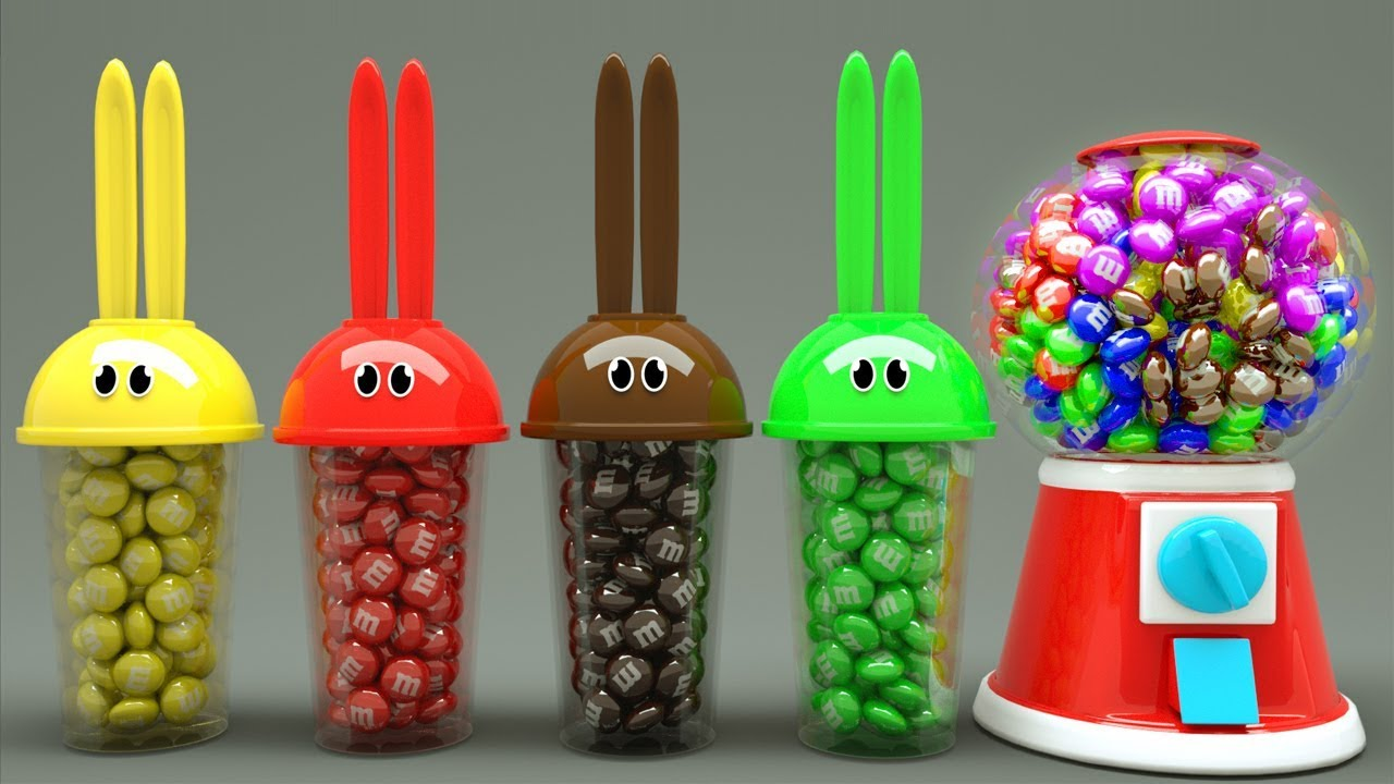 Learn Colors With Bunny Mold And Gumball Machine Animals Finger Family Song For Kids Youtube