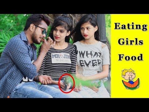 Eating Girls Food Prank  Prank In India 2019  Funday Pranks