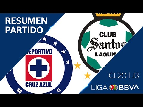 Resumen y Goles | Cruz Azul vs Santos Laguna | Jornada 3 - CL 2020 | Liga BBVA MX