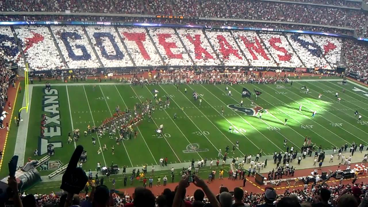 Opening To The Houston Texans First Play Off Game Youtube